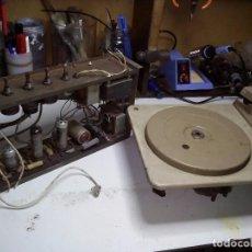 Radios antiguas: AMPLIFICADOR KOLSTER A VALVULAS + TOCADISCOS. Lote 104908051