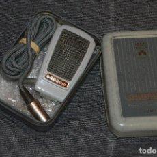 Radios antiguas: ANTIGUO MICRÓFONO GRUNDIG GDM 15 EN CAJA ORIGINAL - MUY ANTIGUO - FUNCIONANDO - VINTAGE. Lote 107929127