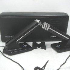 Radios antiguas: PAREJA DE MICROFONOS - PHILIPS N8403 HIFI STEREO ¡¡COMO NUEVOS¡¡ CAJA +PEANA MICROFONO -1976 N-8403. Lote 111719067