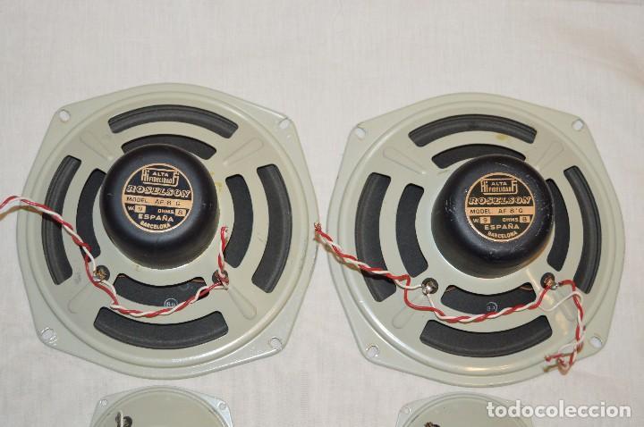 Radios antiguas: Vintage - ROSELSON HIFI - Conjunto altavoces para amplificador de válvulas - Muy buen estado ¡Mira! - Foto 4 - 112521251