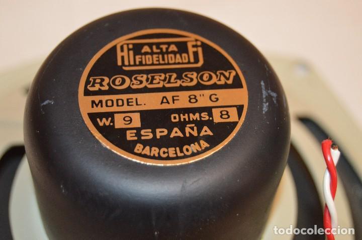 Radios antiguas: Vintage - ROSELSON HIFI - Conjunto altavoces para amplificador de válvulas - Muy buen estado ¡Mira! - Foto 6 - 112521251