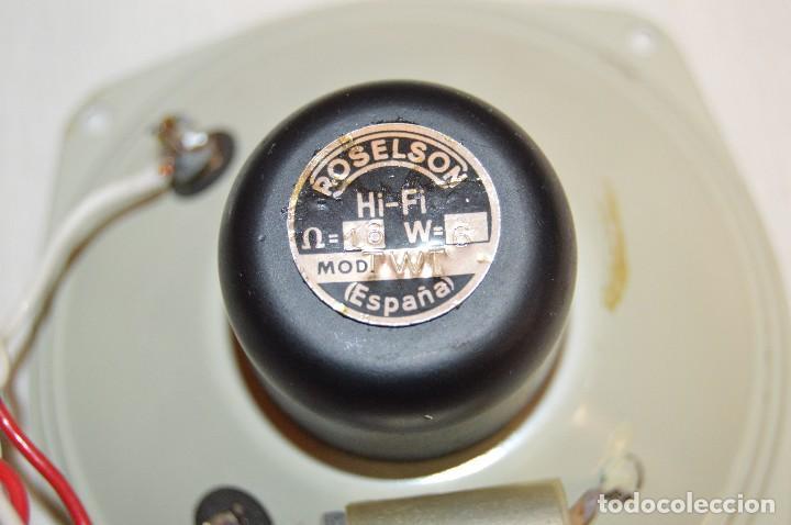 Radios antiguas: Vintage - ROSELSON HIFI - Conjunto altavoces para amplificador de válvulas - Muy buen estado ¡Mira! - Foto 7 - 112521251