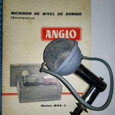 Radios antiguas: MICROFONO RONETTE SOUNDBALL UTILIZADO EN SONOMETRO ANGLO MNS-3 HACIA1950-60 CON FOLLETO. Lote 89297236
