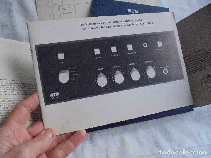 Radios antiguas: INSTRUCCIONES DE INSTALACION Y FUNCIONAMIENTO DEL AMPLIFICADOR ESTEREOFONICO VIETA MODELO AT-220 B - Foto 4 - 116776743