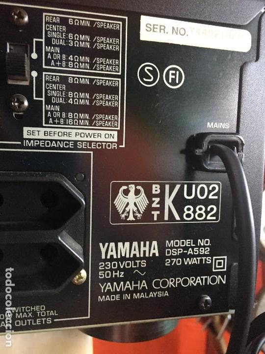 Radios antiguas: Amplificador Yamaha modelo DSP-A592 - Foto 4 - 117096059