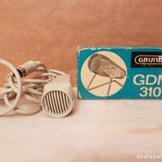 Radios antiguas: MICRÓFONO GRUNDIG GDM 310 (CON CAJA ORIGINAL).FUNCIONA.GRUNDIG DYNAMIC MICROPHONE.VER DETALLES.. Lote 120862727