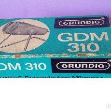 Radios antiguas: MICROFONO GRUNDIG GDM 310, CON CAJA.. Lote 127453363