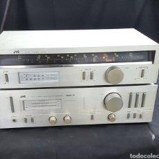 Radios antiguas: RADIO Y AMPLIFICADOR JVC. Lote 128541468