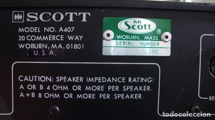 Radios antiguas: AMPLIFICADOR SCOTT - Foto 6 - 128909515
