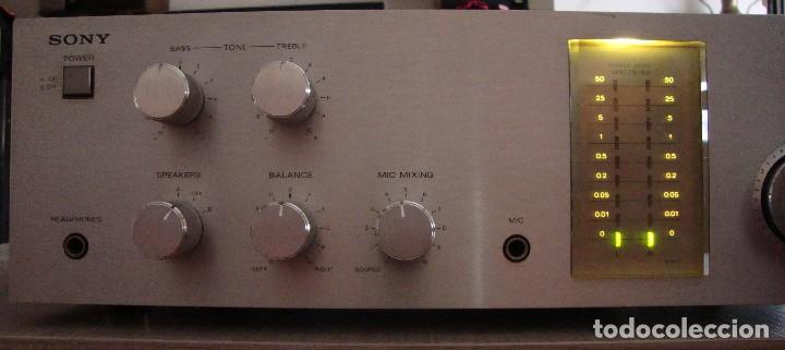 AMPLIFICADOR SONY (Radios, Gramófonos, Grabadoras y Otros - Amplificadores y Micrófonos de Válvulas)