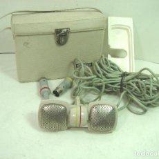 Rádios antigos: MICROFONO DINAMICO ESTEREO - GRUNDIG GDSM 202 - GERMANY AÑOS 60 +ESTUCHE ¡¡FUNCIONANDO¡¡ GRUNDING W1. Lote 132448970
