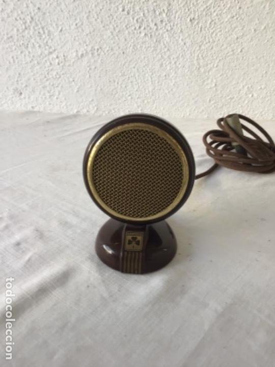 MICRÓFONO DE BAQUELITA GRUNDIG 1940'S. VER FOTOS ANEXAS. (Radios, Gramófonos, Grabadoras y Otros - Amplificadores y Micrófonos de Válvulas)