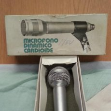 Radios antiguas: MICRÓFONO CARDIOIDE MOD. 300. SIN CABLE. CAJA ORIGINAL.. Lote 134385018