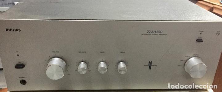 AMPLIFICADOR STEREO PHILIPS 22 AH 560 - FUNCIONA . (Radios, Gramófonos, Grabadoras y Otros - Amplificadores y Micrófonos de Válvulas)