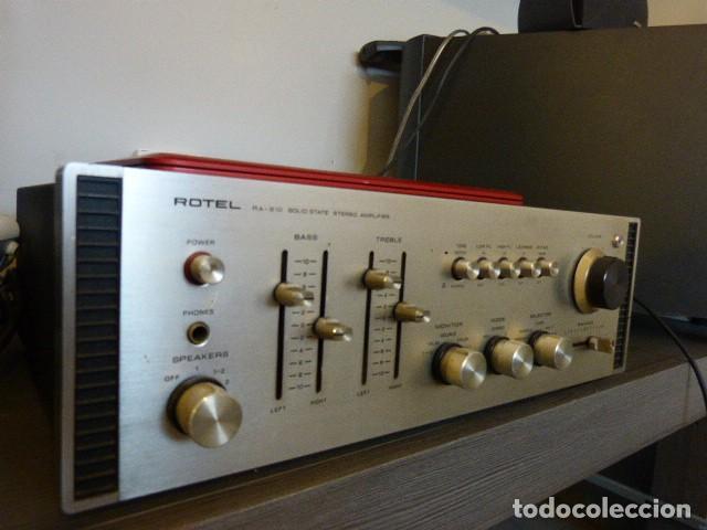 Radios antiguas: AMPLIFICADOR ANALÓGICO VINTAGE ROTEL RA-810 - Foto 2 - 138630098