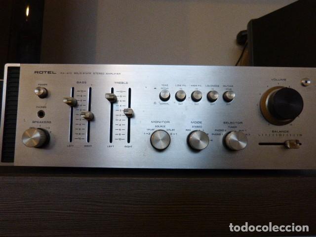 Radios antiguas: AMPLIFICADOR ANALÓGICO VINTAGE ROTEL RA-810 - Foto 3 - 138630098