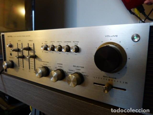 Radios antiguas: AMPLIFICADOR ANALÓGICO VINTAGE ROTEL RA-810 - Foto 5 - 138630098
