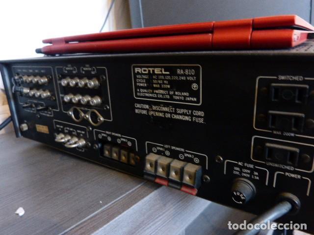 Radios antiguas: AMPLIFICADOR ANALÓGICO VINTAGE ROTEL RA-810 - Foto 6 - 138630098
