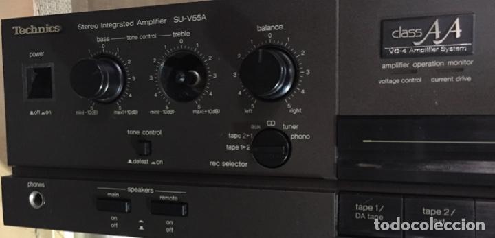 Radios antiguas: AMPLIFICADOR TECHNICS SU - V55A - FUNCIONA ( VER MÁS DETALLES.) - Foto 3 - 138655650