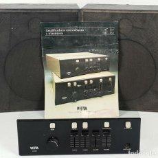Radios antiguas: AMPLIFICADOR Y DOS ALTAVOCES. VIETA AT-222. ESPAÑA. CIRCA 1970. . Lote 139380894
