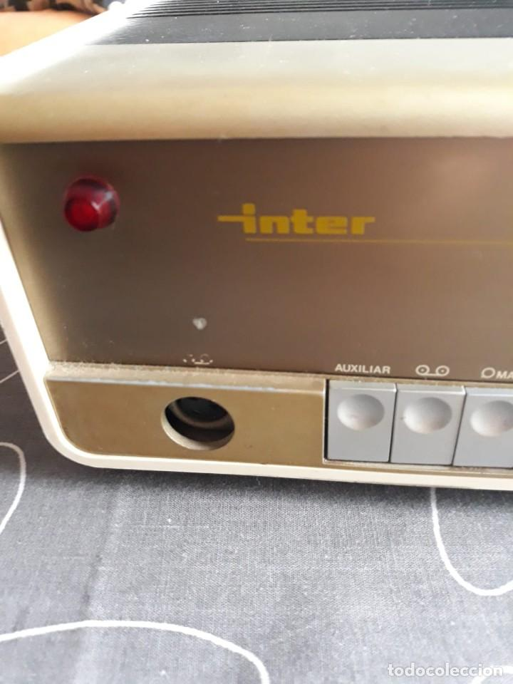 Radios antiguas: Amplificador INTER HI FI STEREO 40. AÑOS 70. SIN REVISAR - Foto 3 - 140565962