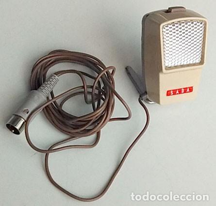 MICRÓFONO DE MARCA SABA (Radios, Gramófonos, Grabadoras y Otros - Amplificadores y Micrófonos de Válvulas)