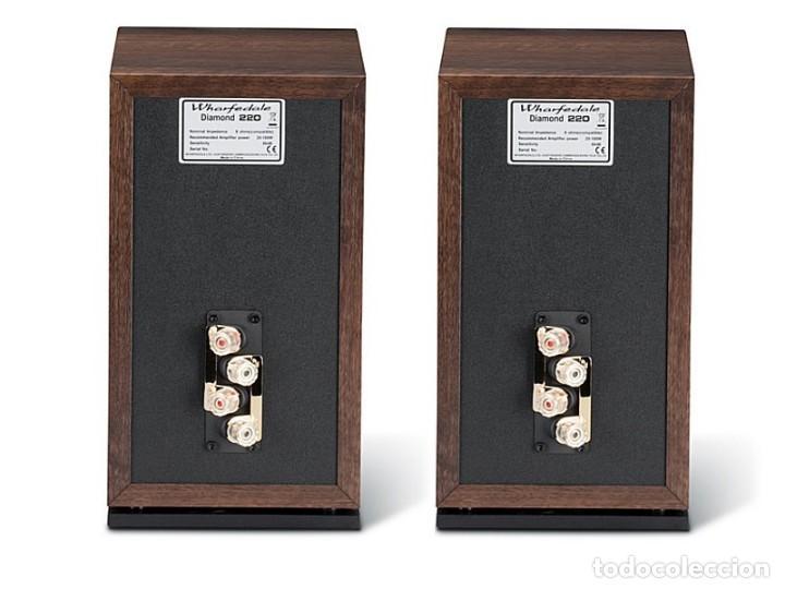 Radios antiguas: ALTAVOCES MONITORES WARFEDALE DIAMOND 220 PAREJA NUEVOS A ESTRENAR - Foto 3 - 143995258