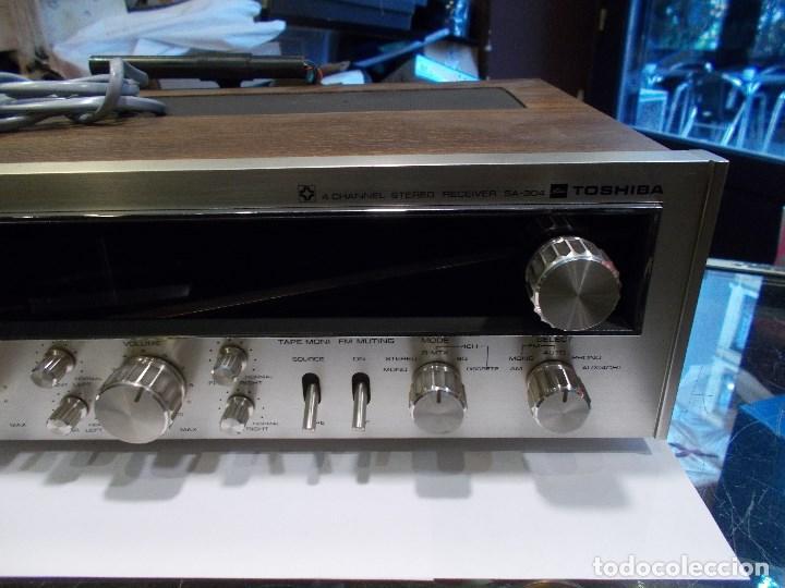 Radios antiguas: EQUIPO AMPLIFICADOR TOSHIBA SA-304 4 CHANNEL STEREO / FUNCIONANDO (G) - Foto 4 - 144104130