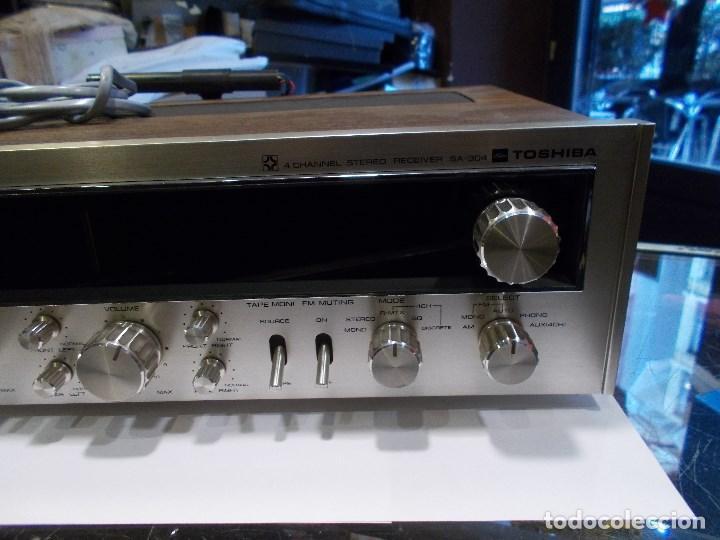 Radios antiguas: EQUIPO AMPLIFICADOR TOSHIBA SA-304 4 CHANNEL STEREO / FUNCIONANDO (G) - Foto 8 - 144104130