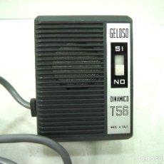 Rádios antigos: ANTIGUO MICROFONO GRABADORA- GELOSO DINAMICO T56 - CLAVIJA DIN 5- ITALY T-56 MAGNETOFONO. Lote 144155238