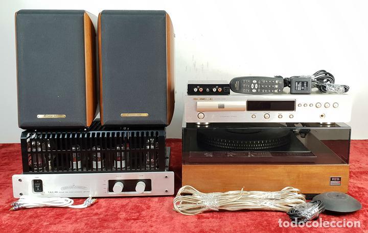 EQUIPO DE SONIDO. GARRARD 401, TUBEAMP TAC 88, MARANTZ Y SONUS FABER. SIGLO XX. (Radios, Gramófonos, Grabadoras y Otros - Amplificadores y Micrófonos de Válvulas)