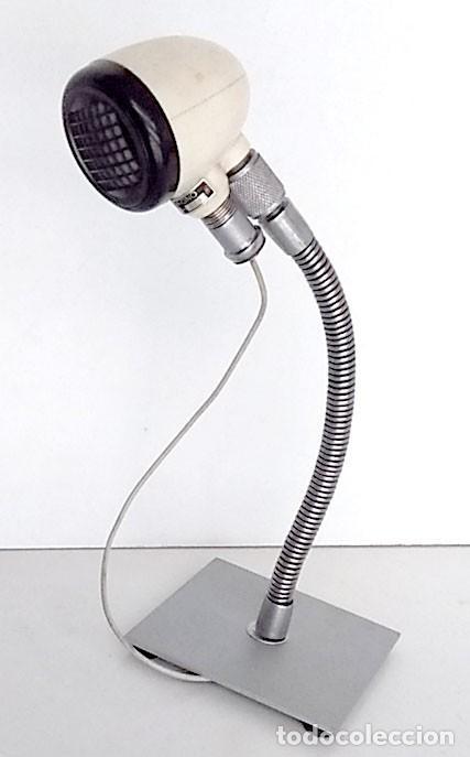 MICRÓFONO ANTIGUO HECHO EN FRANCIA (Radios, Gramófonos, Grabadoras y Otros - Amplificadores y Micrófonos de Válvulas)