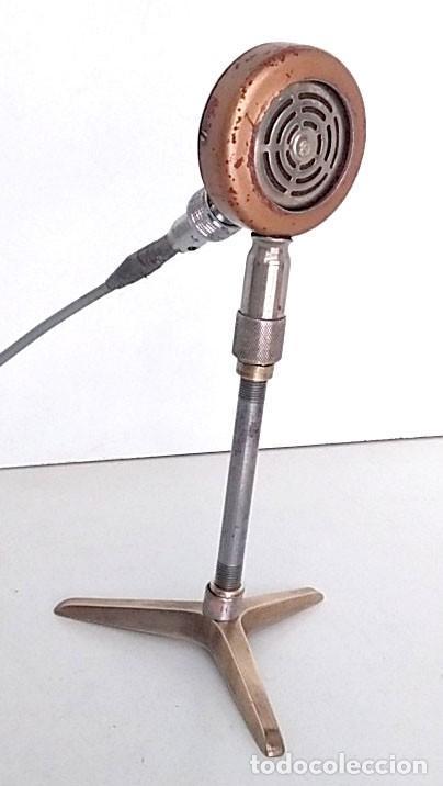 ANTIGUO Y ORIGINAL MICRÓFONO (Radios, Gramófonos, Grabadoras y Otros - Amplificadores y Micrófonos de Válvulas)