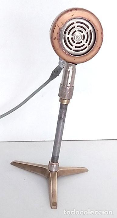 Radios antiguas: ANTIGUO Y ORIGINAL MICRÓFONO - Foto 2 - 146079838