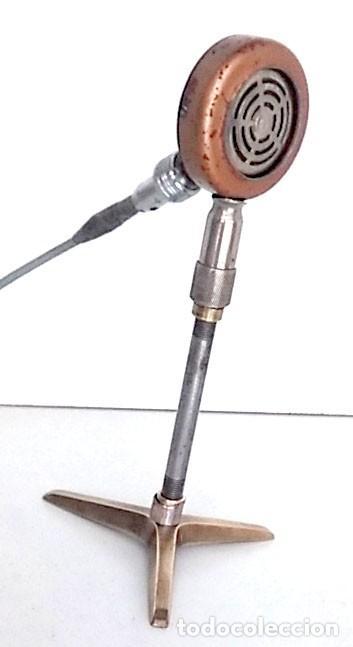 Radios antiguas: ANTIGUO Y ORIGINAL MICRÓFONO - Foto 3 - 146079838
