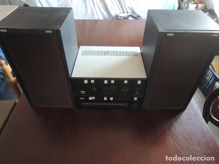 AMPLIFICADOR VIETA UNO CON SINTONIZADOR RADIO Y ALTAVOCES VIETA UNO ORIGINAL - 80'S (Radios, Gramófonos, Grabadoras y Otros - Amplificadores y Micrófonos de Válvulas)