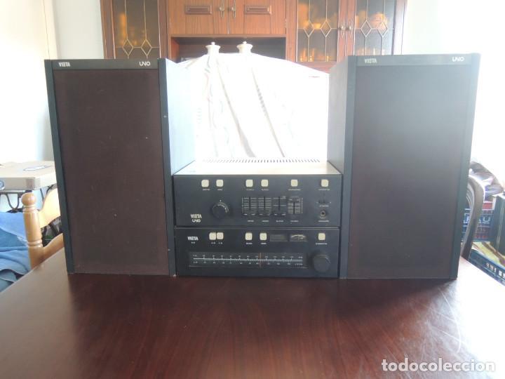 Radios antiguas: AMPLIFICADOR VIETA UNO CON SINTONIZADOR RADIO Y ALTAVOCES VIETA UNO ORIGINAL - 80's - Foto 2 - 148480137
