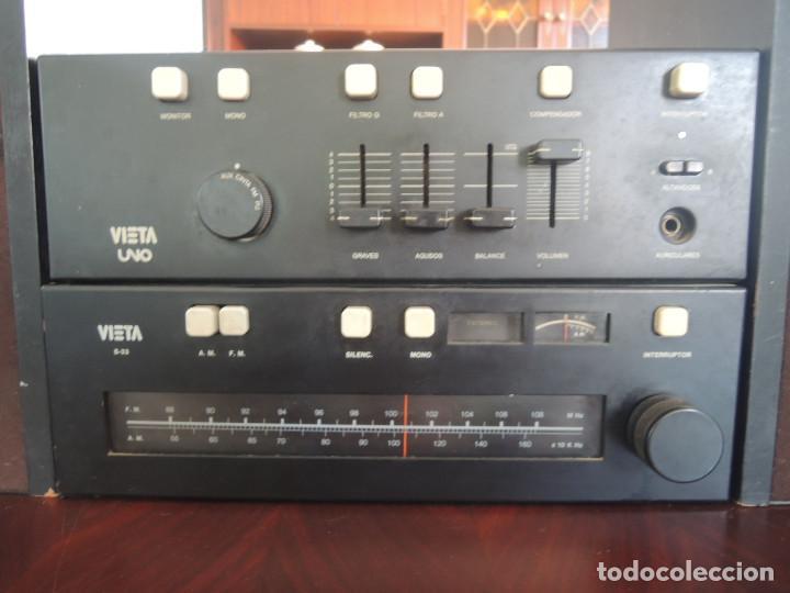 Radios antiguas: AMPLIFICADOR VIETA UNO CON SINTONIZADOR RADIO Y ALTAVOCES VIETA UNO ORIGINAL - 80's - Foto 5 - 148480137