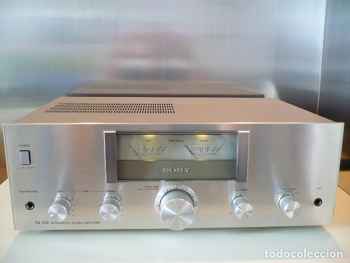 SONY AMPLIFICADOR HI-FI CON VU-METROS ILUMINADOS. PERFECTO ESTADO (Radios, Gramófonos, Grabadoras y Otros - Amplificadores y Micrófonos de Válvulas)