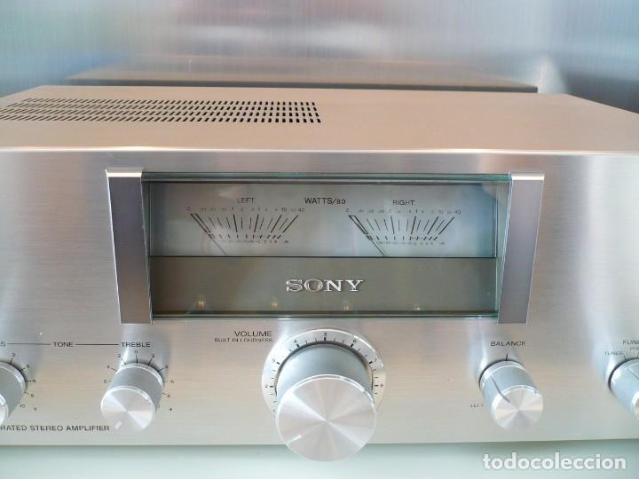 Radios antiguas: SONY AMPLIFICADOR HI-FI CON VU-METROS ILUMINADOS. PERFECTO ESTADO - Foto 2 - 147827246