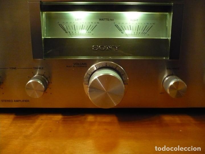 Radios antiguas: SONY AMPLIFICADOR HI-FI CON VU-METROS ILUMINADOS. PERFECTO ESTADO - Foto 3 - 147827246
