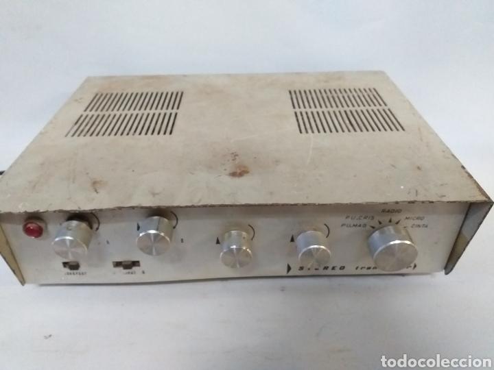 ANTIGUO AMPLIFICADOR STEREO TRANSISTOR (Radios, Gramófonos, Grabadoras y Otros - Amplificadores y Micrófonos de Válvulas)