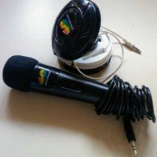Rádios antigos: MICROFONO Y ALTAVOZ COLACAO 40 PRINCIPALES VINTAGE. Lote 150119274