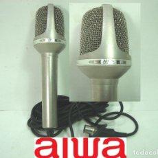 Radios antiguas: MICROFONO STEREO CONDENSER - AIWA CM-2000 IMP-250? -JAPAN 80S-CM2000 BIDIRECCIONAL + ADAPTADOR. Lote 152950402