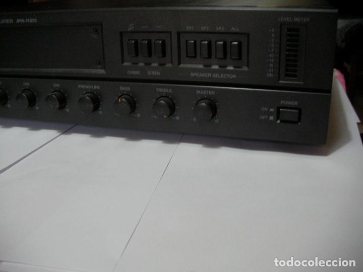 Radios antiguas: ANTIGUO AMPLIFICADOR PUBLIC ADDRESS AMPLIFIER JPA-1120 - 120 W - Foto 2 - 154536242