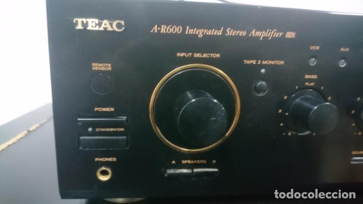 Radios antiguas: Amplificador TEAC A-R600. Funcionando y buen estado cosmético. - Foto 2 - 155092338
