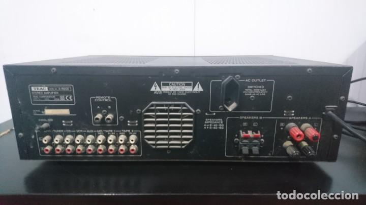 Radios antiguas: Amplificador TEAC A-R600. Funcionando y buen estado cosmético. - Foto 3 - 155092338