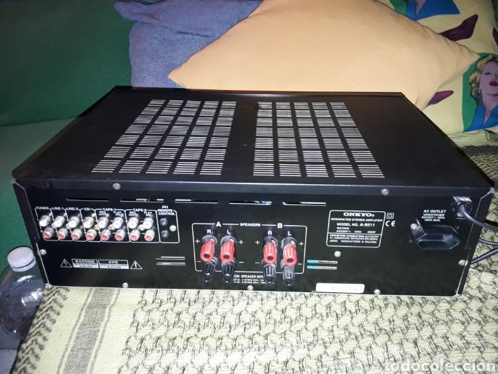 Radios antiguas: Amplificador Onkyo A-9511. Salida 4 altavoces con opcion impedencia. Funciona - Foto 2 - 155148086