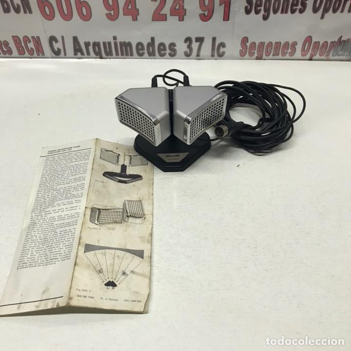ANTIGUO MICRÓFONO ETÉREO, PHILIPS STEREO (Radios, Gramófonos, Grabadoras y Otros - Amplificadores y Micrófonos de Válvulas)