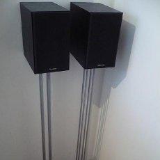 Radios antiguas: PIONEER BAFLES 2 VÍAS ALTA SENSIBIIDAD(AMPLI VÁLVULAS) +SOPORTES PARA ALTAVOCES-METAL,BASE DE PIEDRA. Lote 162014570